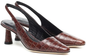 BY FAR Diana slingback leather pumps