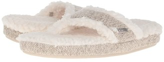 Acorn Thong Ragg (Grey Ragg Wool) Women's Slippers