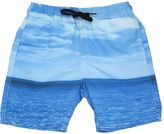 Finger In The Nose Ocean Printed Nylon Swimming Shorts