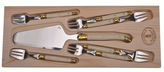 Jean Dubost Le Thiers 7 Pc Cake Set with Ivory handles