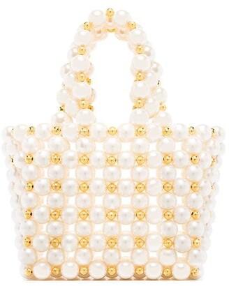 VANINA Reveries pearl-embellished mini bag