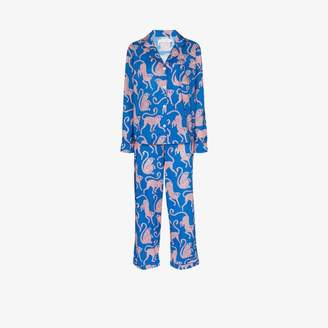 Desmond & Dempsey Chango printed cotton pyjama set