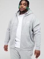 Nike Sportswear Plus Size Club Fleece Full Zip Hoodie - Dark Grey