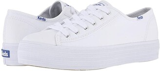 Keds Triple Kick Canvas (White) Women's Lace up casual Shoes