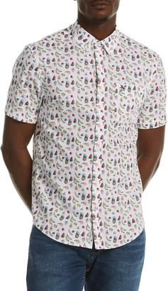 Original Penguin Fruit Print Short Sleeve Heritage Fit Shirt