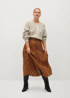 MANGO Pleated buttons skirt