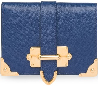 Prada Small Cahier Saffiano leather wallet