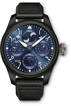 IWC Big Pilot Rodeo Drive Ceramic, Titanium & Leather Strap Perpetual Calendar Watch