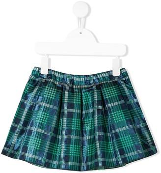 Miss Blumarine Checked Print Skirt