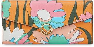 Fendi Floral Flap Wallet
