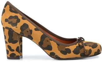 Penelope Chilvers Margot leopard print pumps