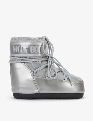 Moon Boot Classic Low Glance logo-print shell boots