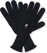 Raf Simons Mens Black Embroidered Luxury I Love You Knitted Wool Gloves