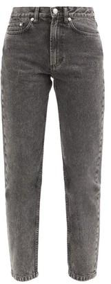 A.P.C. Martin High-rise Stonewashed Straight-leg Jeans - Grey