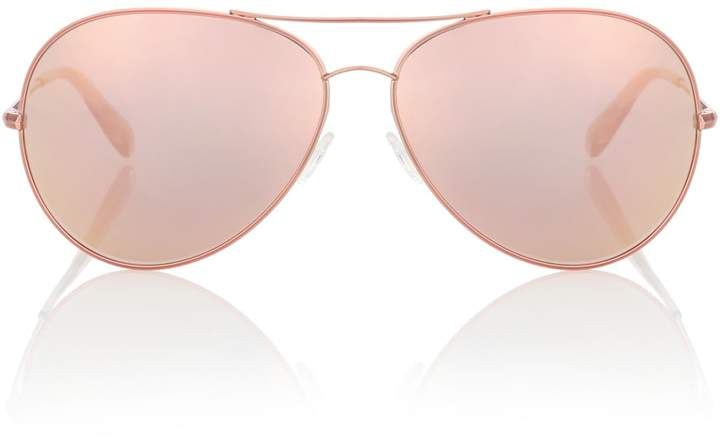 Oliver Peoples Sayer 63 mirrored aviator sunglasses