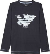 Armani Junior Eagle Cotton Long-sleeved Top 4-16 Years