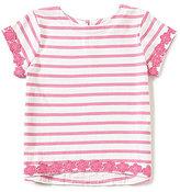 Joules Little Girls 3-6 Bonnie Striped Lace-Trim Top