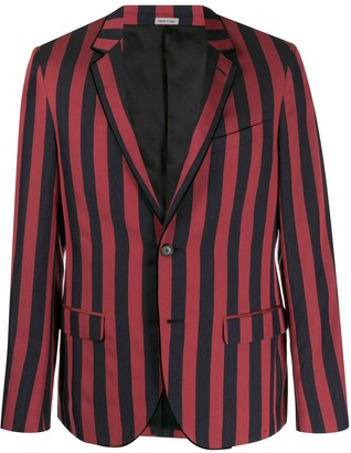 Lanvin Two Tone Striped Blazer