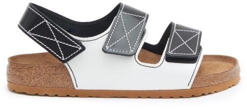 Birkenstock x Proenza Schouler Milano Leather Sandals - Black White