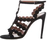 Alaia Suede Laser-Cut Sandals