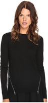 McQ by Alexander McQueen Fabric Mix Crew Neck Women's Clothing