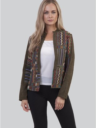 M&Co Izabel patchwork open front jacket