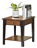 ACME Furniture Magus End Table Brown Oak & Black - ACME