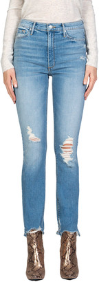 Black Orchid Joan High-Waist Distressed Straight Jeans