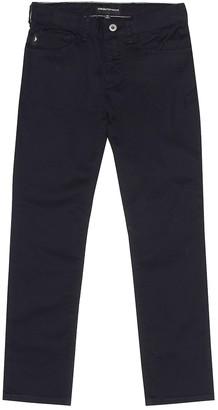 Emporio Armani Kids Stretch cotton pants