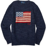 Ralph Lauren Boys 2-7 Flag Graphic Sweater