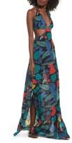 Raga Women's Punta Uva Cutout Halter Maxi Dress