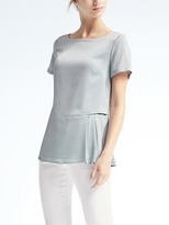Banana Republic Short-Sleeve Pleat-Insert Tee