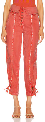 Ulla Johnson Kingston Jean in Coral | FWRD