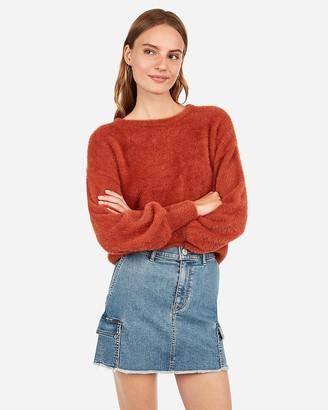 Express Fuzzy Balloon Sleeve Sweater