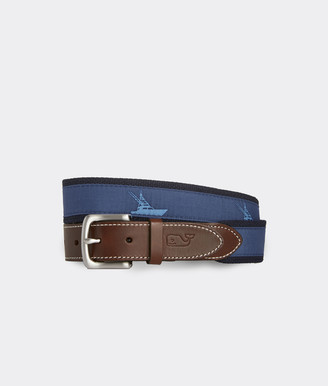 Vineyard Vines Sportfisher Icon Canvas Club Belt