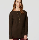 LOFT Ribtrim Tunic Sweater