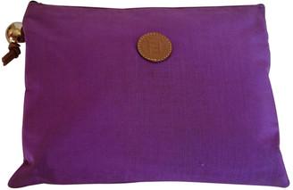 Fendi Purple Silk Clutch bags
