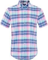 Regular Fit Short Sleeve Madras Plaid Shirt