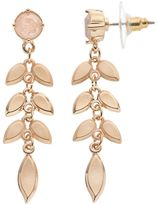 Lauren Conrad Leafy Vine Nickel Free Drop Earrings
