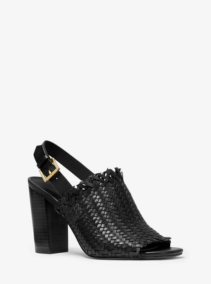 MICHAEL Michael Kors Dee Woven Leather Sandal