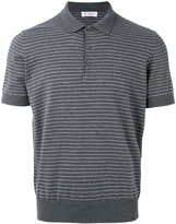 Brunello Cucinelli striped polo top - men - Cotton - 48