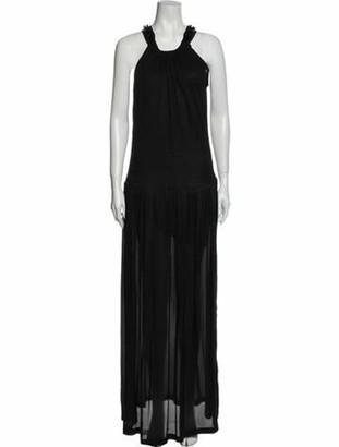 Lanvin Halterneck Long Dress Black