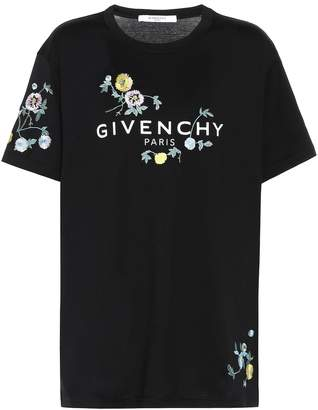 Givenchy Embroidered cotton T-shirt