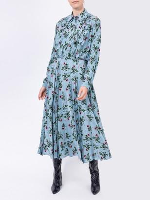 Valentino Floral Print Mid-length Skirt Blue