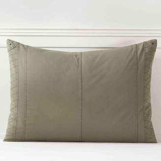 Pottery Barn Teen Essential Cargo Sham, Standard, Washed Olive