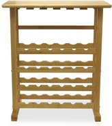 Winsome Wood 24-Bottle Beechwood Wine Rack/Glass Holder
