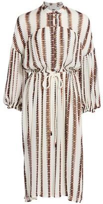 MUNTHE Eiden Stripe Midi Shirtdress