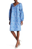 Thomas Wylde Floral Silk Blouson Dress