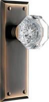 Rejuvenation Putman Octagonal Crystal Knob Interior Door Set