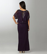 J Kara Beaded Blouson Gown